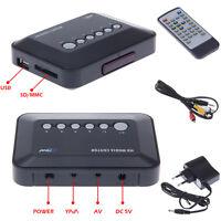 720P AV Player DIVX RMVB AVI USB SD MS MMC TV HD Media Center HDD With Remote