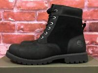 TIMBERLAND MEN'S LARCHMONT 6-INCH BOOTS BLACK SUEDE LEATHER A11E7 SIZES