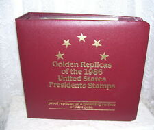 USA First Day Issue President Stamps 22 Kt Golden Replica