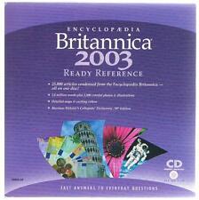 **BRAND NEW** ENCyCLOPEDIA BRITANNICA 2003 Ready Reference CDRoM PC/ MacIntosh