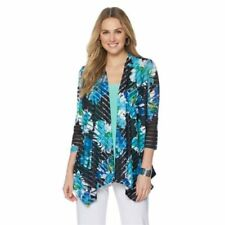 Slinky Brand Printed Yoryu Jacket with Solid Trim 417357-J