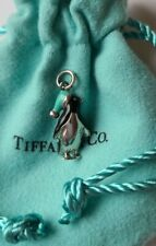 Tiffany & Co sterling enamel penguin charm