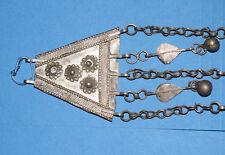 Rare Antique Handmade Egpytian Bedoudin Silver Nubian hanging Artwork 4 of 4