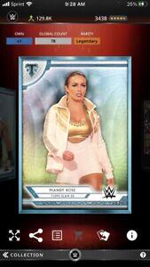 Topps WWE Slam *Digital* 2020 Triple Threads Platinum Base - Mandy Rose 78cc