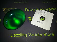9 x Ascot 75W 240V E27 R95 Mirror GREEN Reflector Light Bulb Lamp UK Seller
