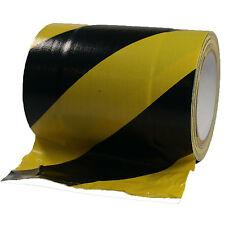 Gewebeband Tunneltape 150mm x 15m Gelb / Schwarz Kabelbrücke Gaffa Tape Qualität