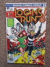 NOS > VG+ > #1 LOGAN'S RUN comic book > CGC READY !! marvel key 1st solo