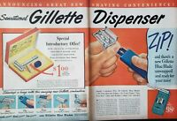 Vintage 1948 Gillette Razor Print Ad Ephemera Art Decor Super-Speed