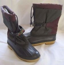 Mens Vintage Slip On Winter Boots Removable Insert Liner Rubber Nylon 6 Canada