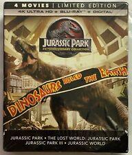 JURASSIC PARK WORLD 4 MOVIE COLLECTION 4K ULTRA HD BLU RAY 8 DISC SET DIGIBOOK