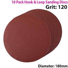 Cantidad 10 - 180mm 7 pulgadas discos de lijado 120 Grit Órbita Sander-Hook & Loop
