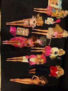 Lot 8 Vintage Barbie Dolls 1980's Rockers, International, Style Magic, Whitney