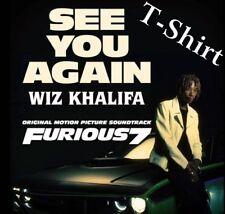 "Wiz Khalifa ""See You Again"" Furious 7 Soundtrack Shirt Adult Small 100% Cotton"