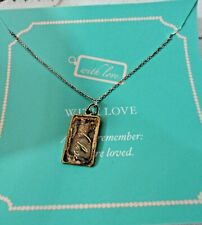Stella & Dot Sterling Silver  with love pendant and 19 in chain has extension
