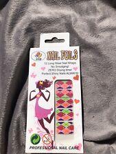 Harley Quinn Foil Nails