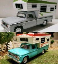 Custom1/64 1964 Dodge RAM 4x4 PICKUP TRUCK DIECAST DCP CUMMIN camper hitch & tow