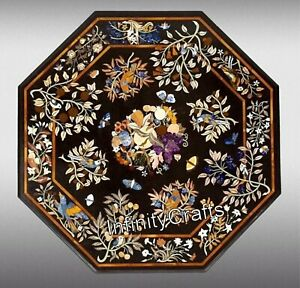 60 Inches Marble Dining Table Top Marquetry Art Coffee Table for Restaurants