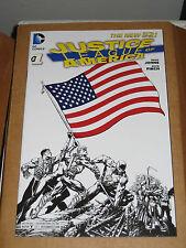 Justice League of America JLA 1 RETAILER sketch variant 2013 eccc sdcc con dc 2