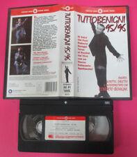 VHS film TUTTOBENIGNI TUTTO Roberto Benigni 95/96 1996 CECCHI GORI (F122) no dvd