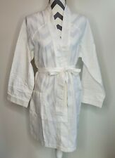 NWT Cacique Lingerie Small White Lightweight Waffle Robe Hotel Cotton Blend