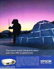 PUBLICITE ADVERTISING 085  2005  EPSON projecteur 3LCD