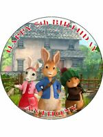 PETER RABBIT PERSONALIZED ICING CAKE TOPPER'S VARIOUS SIZES