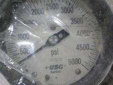 NEW USG / Solfrunt Pressure Gauge 0-5000 Psi.