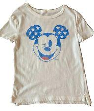 Disney x Junk Food Kids Mickey Mouse Stars Wink T-Shirt Top - Size 4T