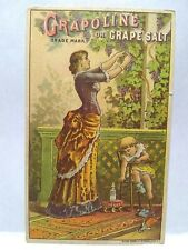Trade Card GRAPOLINE GRAPE SALT, Rogers, Geneseo NY -- Hatfield, Tunkhannock, PA