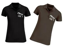 Equestrian Horse Jumping Womens Polo by Lumipix, Gift for Mum, Aunty ETC!