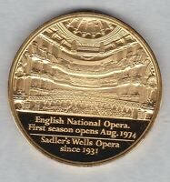 1974 ENGLISH NATIONAL OPERA GOLD PLATED SILVER MEDAL