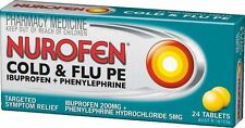 ~ NUROFEN COLD & FLU PE 24 TABLETS TARGETED SYMPTOM RELIEF FAST EFFECTIVE