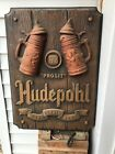 Vintage Hudepohl Beer Adv Deer Pure Grain Beer Sign Rare Size And Style