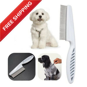 Stainless Steel Pet Fur Brush Comb Grooming Dog Cat Hair Removal Shedding Tool