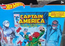 Hot Wheels Captain America vs Red Skull 2 Car Pack - Exclusive Mini Comic Book
