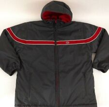 Vintage 90s Nike Heavy Winter Coat/Parka Reversible Large  Red & Black Spellout