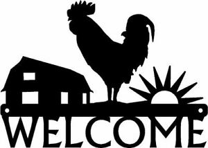 Sunrise on The Farm Rooster Welcome Sign - Country life - Made in USA
