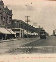 Postcard, New Westminster 1906, Columbia Street, Drugstore, Trolly Vintage P16