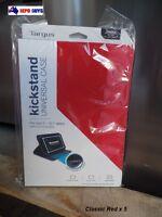 5 X Targus Classic Folio Case for iPad Air Tablets - RED Model # THZ43401AU