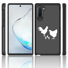 For Samsung Galaxy Note 10 + Shockproof Hard Case Cover Chicken Family