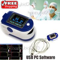 Punta del dedo Oxímetro de pulso Oxígeno sanguíneo Monitor de frecuencia cardíac