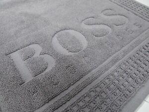 Hugo BOSS Bath Mat Rug Shower Home Designer New Grey Genuine DW62