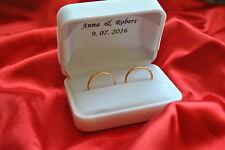 PERSONALIZED Velvet Double Wedding Ring Bearer Box-alternative for rings cushion