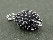 Hedgehog Charm Sterling Silver Pendant Animal Porcupine 3d