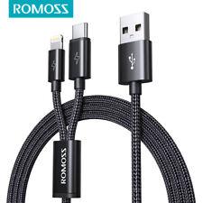 Romoss 2in1 Lightning USB-C USB LadeKabel Schnelle für iPhone Samsung Huawei 1,5