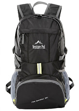 Venture Pal Lightweight Packable Durable Travel Hiking Backpack Daypack, Black