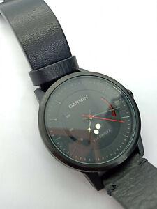 Garmin Vivomove Classic Smart Watch Black Leather Band Bluetooh Steps Activity