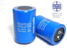 """15000uF - 50V FRAKO ECD """"LL"""" Ultra Audio Grade!! Electrolytic caps   x 2 pieces"""