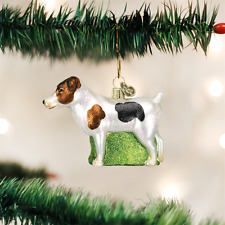 Old World Christmas Jack Russell Terrier Dog Glass Christmas Ornament 12218