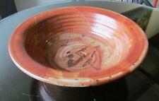 Gorgeous, Signed Pottery Studio Stoneware Bowl w Shino Glaze.
